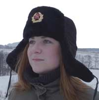 Russian winter hat